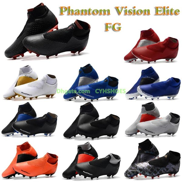 Nova Chegada Phantom Vision Elite Sapatos de Futebol para Chaussures Super multicolor Neymar JR TF VSN DF AG-PRO de Futebol de Alta Qualidade dos homens