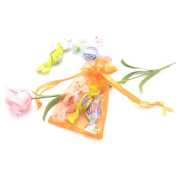2000pcs/lot оптом!5x7cm ювелирные изделия упаковка PouchesBags Рождество свадьба красочные украшения подарочные пакеты 100%органзы Подгонянный логотип