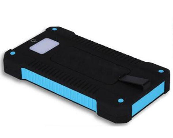 Gift Tool Adventure Travel Waterproof Solar Power Bank 10000mah Dual USB li-Polymer Battery Solar Charger powerbank LED Light for iPhone