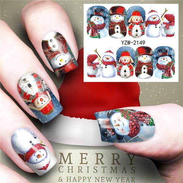 Nail Watermark Sticker Winter Christmas Old Man Snowflake Nail Applique Beginner DIY Ultra-thin Jewelry