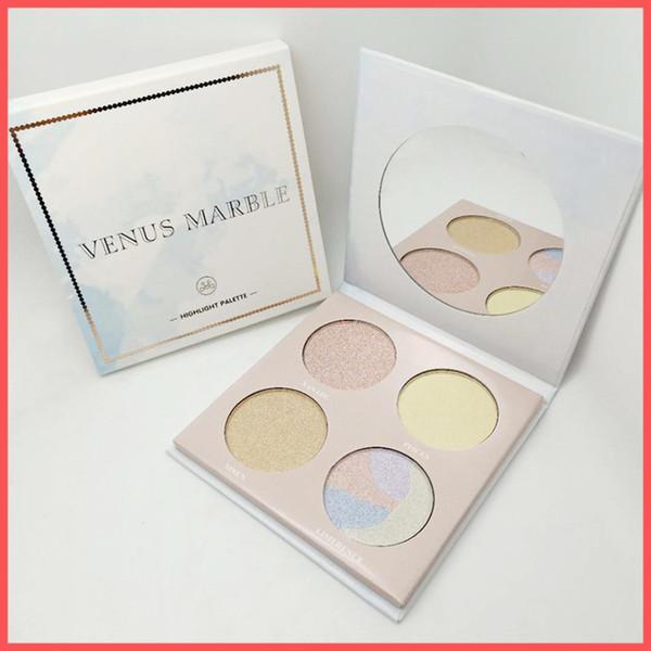 Kostenloser Versand durch ePacket Venus Marmor Highlight Palette 4 Farben Textmarker Venus Marmor Gesicht Bronzers Hohe Qualität