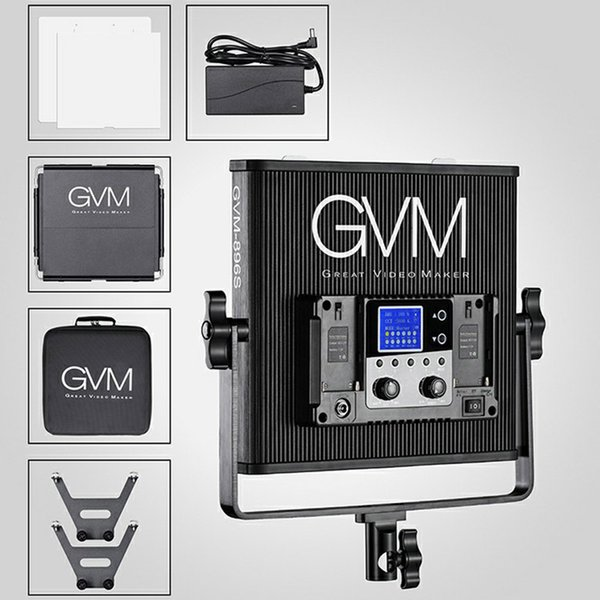 2019 Gvm 896s Led Video Light Panel With Barndoor Kit 54w Dimmable Photography Video Led Panel Light For Photo Studio Lighting From Yangt520 346 78