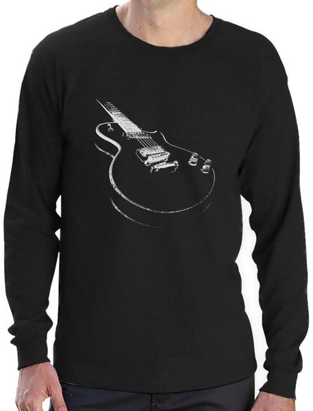T Shirt Quotes Men S O Neck Graphic Short Sleeve Gift For Guitarist Cool Musician Electric Guitar Printed Long Sleeve T Shirt White Designer T Shirts