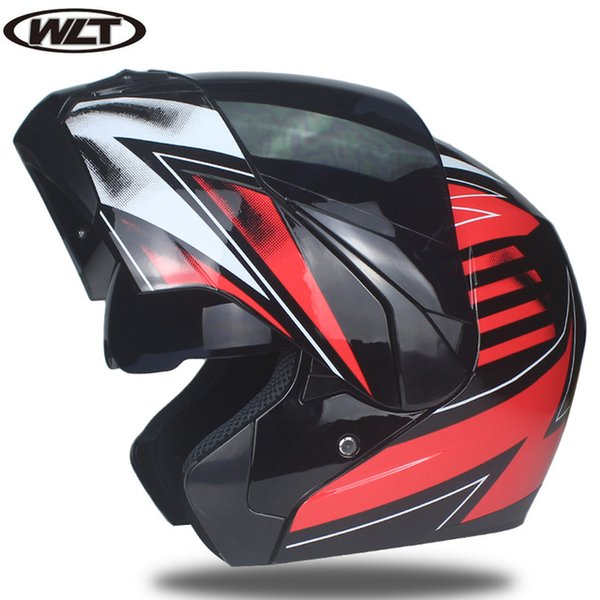 Professional Double Glass Motorcycle Helmet Flip Up motorbike Helmet 22 option available with internal black sunglass A