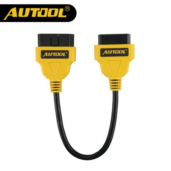 Original AUTOOL OBD2 16Pin Male to Female Extension Cable Connector 30cm OBD II Cable OBD 2 Adapter Diagnostic Connector