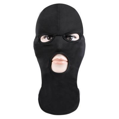 Mascarilla Máscara de esquí Sombrero de bicicleta Sombrero de cara completa Cubierta de tres orificios Sombrero de punto Estiramiento de invierno Máscara de nieve a prueba de polvo para adultos
