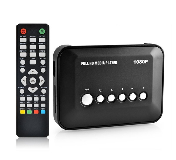 Mini Full HD 1080P Media Player USB/SD RMVB RM H.264 MKV AVI VOB with AV,YUV,HDMI Mini Hdd player with HDMI Cable free shipping