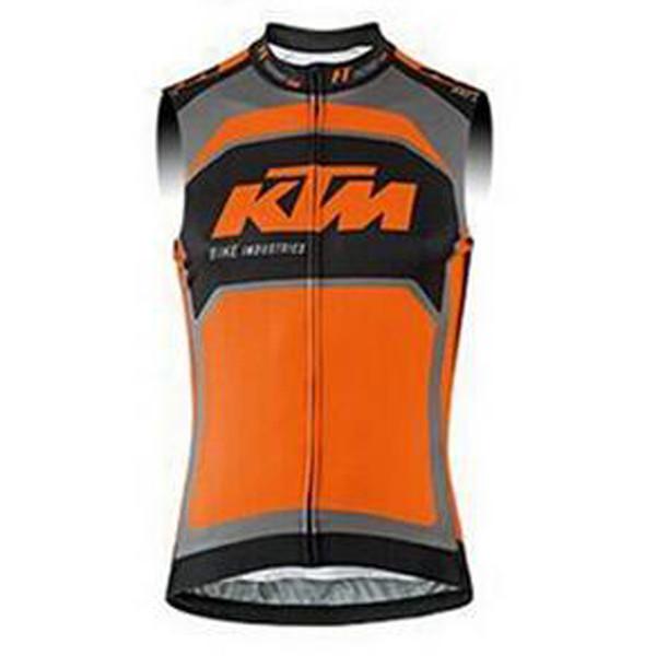 Erkekler KTM bisiklet jersey UCI dünya turu ekibi yaz Nefes bisiklet kolsuz yelek yarış gömlek Bisiklet ekipmanları ropa ciclismo F60443