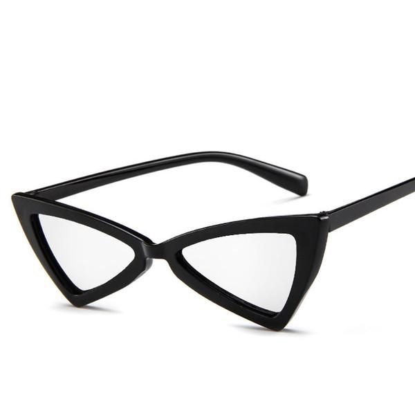 New 2018 Fashion Brand Cat Eye Pink Sunglasses Woman Shades Mirror Female Rhinestone Sun Glasses For Female Coating Gafas UV400