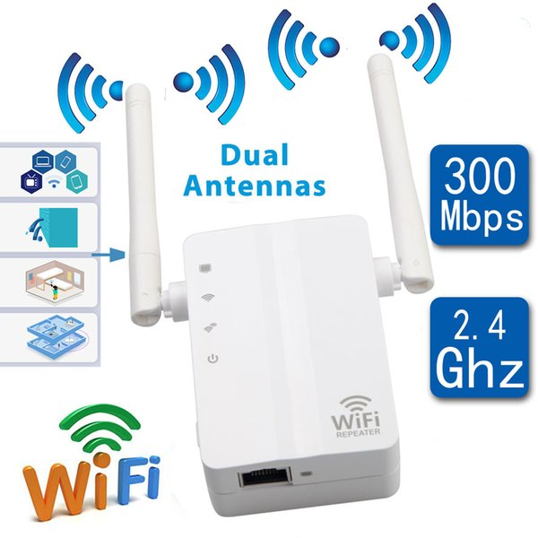 WiFi Repeater Wireless Amplifier 300M Wi-Fi Range Extander 2.4G Repetidor wifi 802.11N/B/G Signal Long Wide Range Booster Access Point WPS