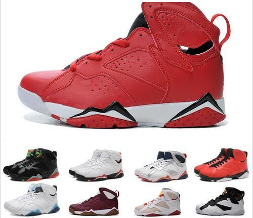 official photos 00d7a ce5b2 2019 Hot Selling 7 True Flight French Blue VII Men Basketball Shoes Sport  Boot Hot Selling MID Classic 7s Sneakers Boot For Men From Lzssprotsshoes,  ...