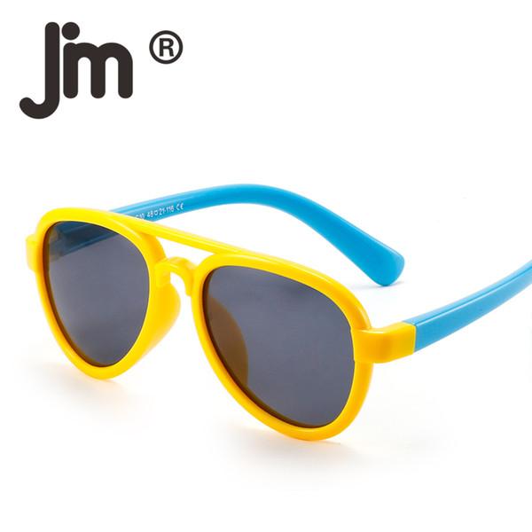 JM Kids Rubber Double Wires Polarized Sunglasses Unbreakable Eyeglasses Children Eyewear Girls Boys Sun Glasses Age 3-12