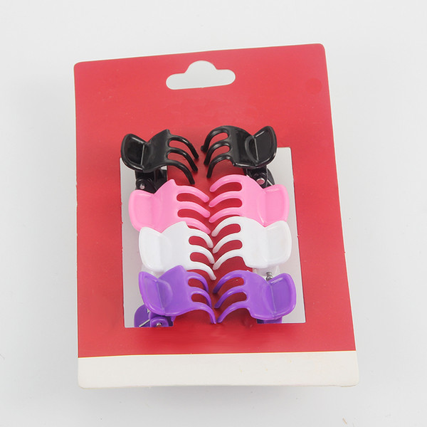 8pcs/lot Fashion Girls Hair Plastic Hair Clips Crab Mini Hairpin Claw Kids Ornaments Claw Clip