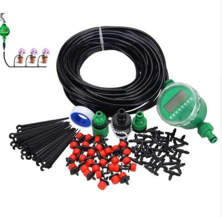 1 Set 20m AutomaticTimer Plant Self Watering Drip Irrigation Micro System Garden Dripper Hose Kits Watering Sprinkler System