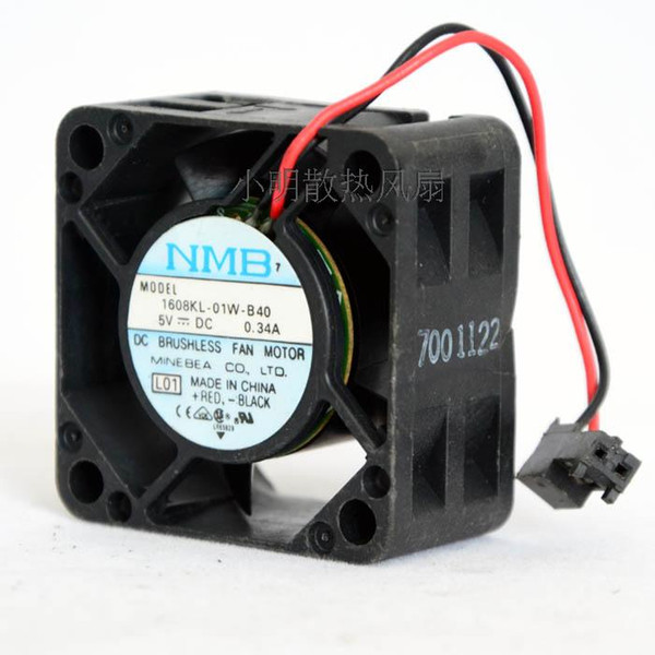 For original NMB 4020 1608KL-01W-B40 5V 0.34A 2-wire switch cooling device fan