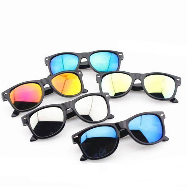 Boys Girls sunglasses Anti-UV Kids M nail Sun glasses Plastic Frame fashion children glasses 7 colors C3763