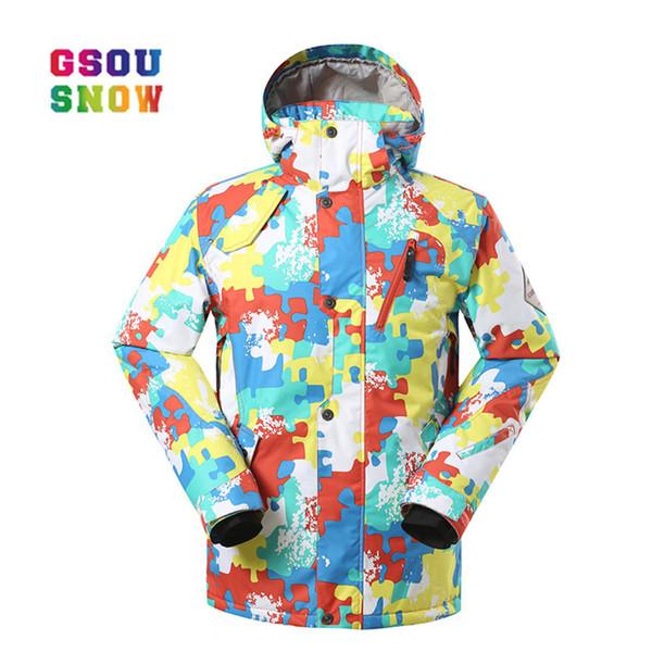 GSOU SNOW Winter Ski Jackets Men Outdoor Snowboard Jackets Waterproof Breathable Male Sports Plus Windproof Quality