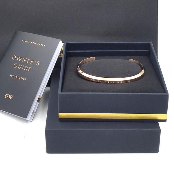 New Fashion DW Bracciali Bracciale in oro rosa Bracciale in argento Bracciale in acciaio 100% Bracciale donna e uomo Scatola regalo originale