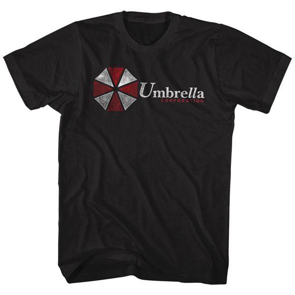 RESIDENT EVIL UMBLELLA CORPORATION BLACK Adulto dos homens de manga curta T-Shirt de Verão 2018 100% Algodão Interessante