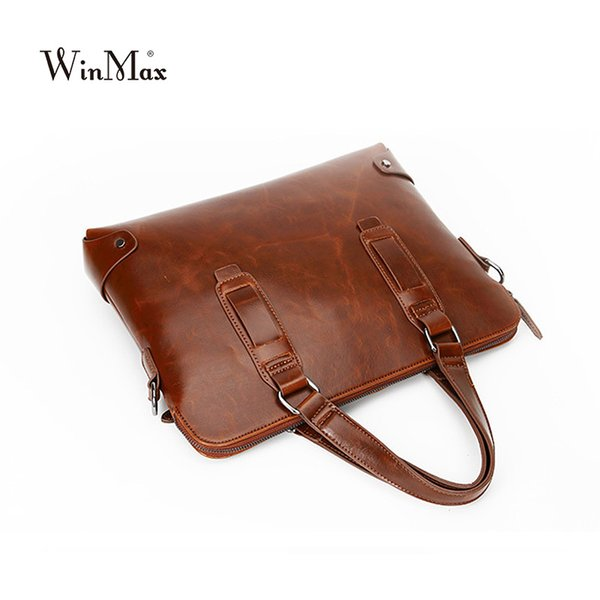 Factory Direct Winmax New Men leather Handbag Briefcase Business Laptop High Quality Top-handle Shoulder Bag Male Messenger Bags
