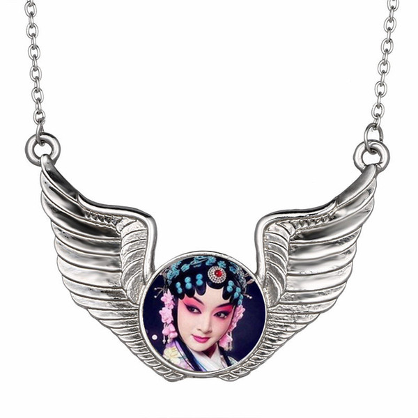 dye sublimation necklaces pendants fashion zircon wing necklace pendant for women heat transfer diy consumables include necklace new style