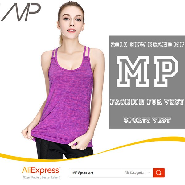 2018 MP Best Women's Yoga Tank Performance Stretch Quick Dry Sports Workout Running Top Racing sports vest Sportwear yoga top