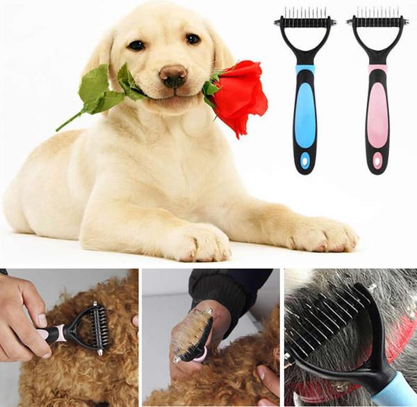 Pet собака мех узел волос удалить гребень резак триммер пролить грабли щетка уход инструменты для длинных волос Вьющиеся Pet AAA891