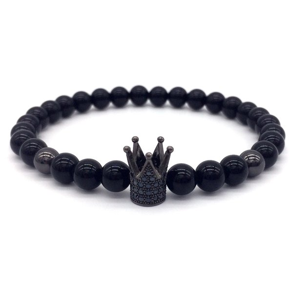 2018 Hot Fashion Crown Lion Head Leopard Men Luxury Bracelet With Stone Charm Bracelet For Men Or Women Jewelry Gift