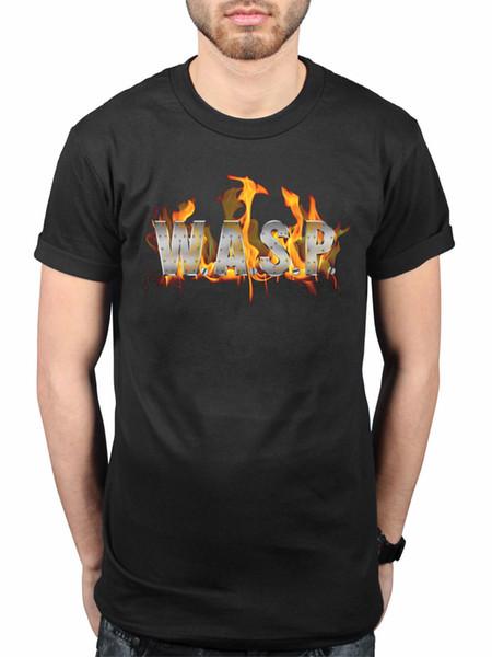 W.A.S.P. officiel World Domination T-Shirt Heavy Metal Band Je Veux être Quelqu'un Nouveau T Shirt Printemps Eté Manches Courtes Casual