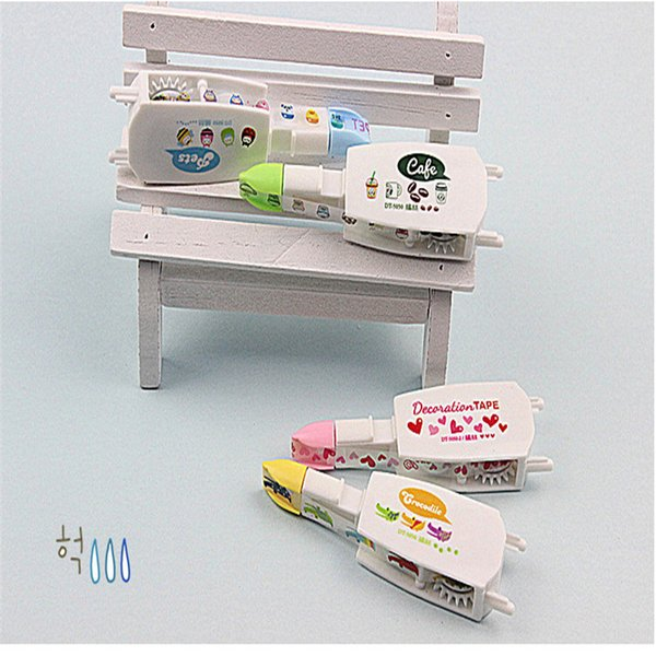 Cute set four color correction tape masking Cartoon Decoration tapes for diary stickers scrapbooking stationery School supplies 2016