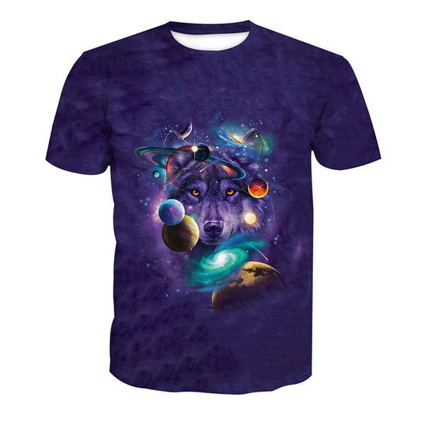 Erkekler T-shirt Kurt Kurt Başkanı Galaxy Yıldız 3D Tam Baskı Adam Rahat Unisex Kısa Kollu Dijital Grafik Tee Gömlek Tees Tops T-Shirt (RLT-4112)