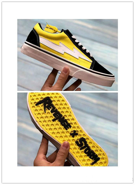 2018 venta caliente Revenge X Storm Old Skool Canvas Designer Sneakers Mujeres Hombres Low Cut Skateboard Amarillo Rojo Azul Blanco Negro Zapatos casuales