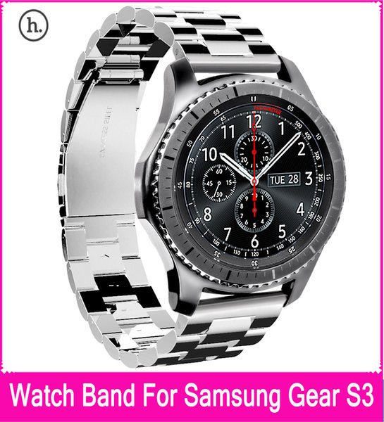 HOCO Stainless Steel Replacement Band Bracelet Strap with Three Beads Buckle Design For Samsung Gear S3 Classic / Frontier