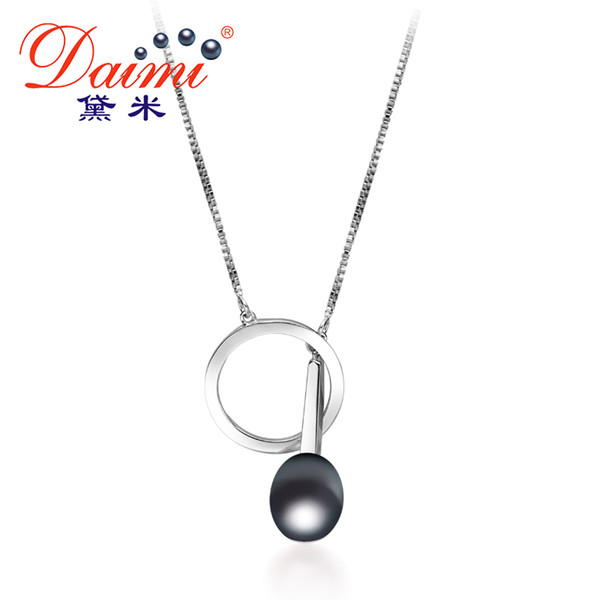 f3446ea57cde9 2018 Daimi 9 10mm Tear Drop Freshwater Pearl Pendant In 925 Sterling Silver  Chain Pendant Necklace Hot Design Fine Jewelry Y1892805 From Tao03, $29.12  ...