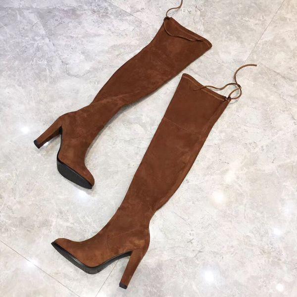 Sıcak! Sonbahar ve kış yeni lüks çizmeler, kadınların gündelik yüksek topuklu çizmeler, tasarımcı bayan botları, boyutu 34-41, topuk yüksekliği: 9 CM
