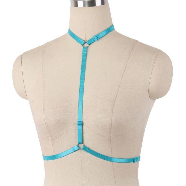 Body Harness elastic Black Sexy Lingerie Harajuku Bondage Harness Belt Body Cage Fetish Wear Open Exotic Apparel Chest Bra Harness Cage