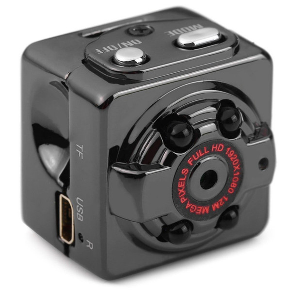 1 Adet HD 1080 P SQ8 Mini Cep Kamera Video Kaydedici Kızılötesi Gece Görüş Hareket Algılama ile Kapalı / Açık Spor Taşınabilir Kamera