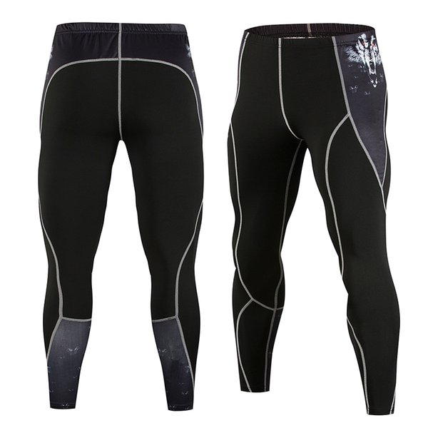 Gym Compression Pants Men Running Tights Yoga Sport Jogging Pants Leggings Joggers Bodybuilding Training Trousers Workout Gear
