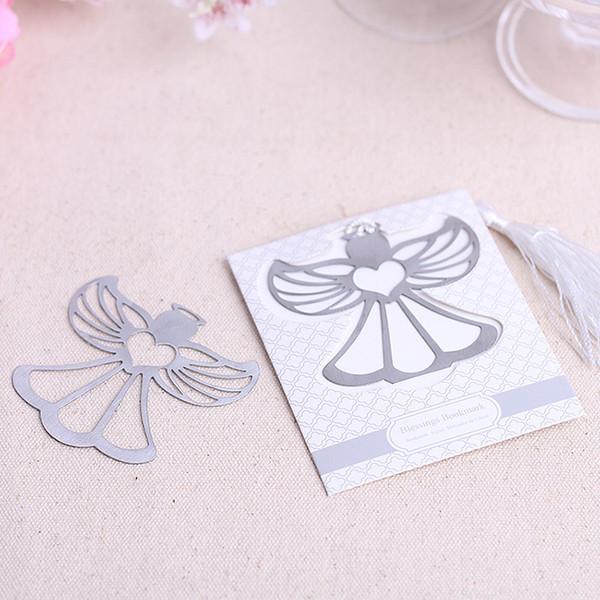 bendiciones marcador de ángel favor de fiesta de bienvenida al bebé favores de la boda y regalos con regalos de boda borla