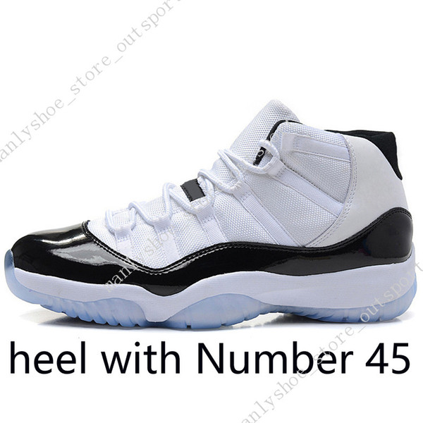 #09 High Concord (heel with Number 45)