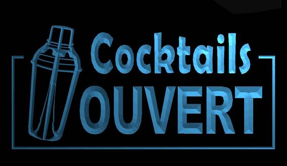 LS655-b-OUVERT-Cocktails-Bar-Beer-Pub-Neon-Light-Sign Decor Free Shipping Dropshipping Wholesale 8 colors to choose