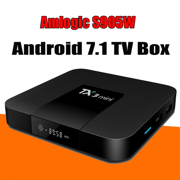 best selling TX3 Mini Smart TV Box Amlogic S905W WiFi Android 8.1 1G+8G 4K HD 1.5GHz Set-top TV Box 2.4GHz Media Player
