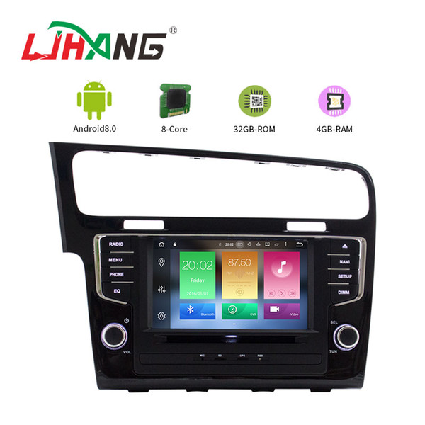 LJHANG Android 8.0 Car DVD Player For  VW Golf 7 2013 2014 2015 Multimedia GPS Navigation Radio autoaudio Stereo wifi
