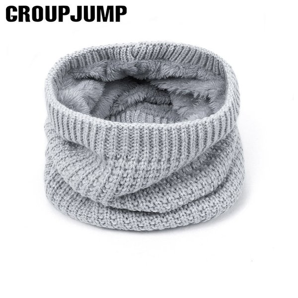 New Winter Children infinity warm scarf Thickened Wool Collar Scarves Boys Girls Neck Scarf Cotton Unisex Bib loop Scarves