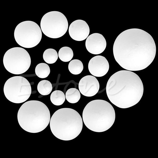50pcs modellatura polistirolo espanso polistirolo palla fai da te creativo materiale rotondo 2/3/4/5/6/8 cm Jul18_25