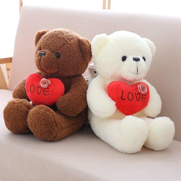 1 piece Teddy Bear Toy Plush Toy Stuffed Down Cotton Soft Animal Bear Birthday Gift Children Wedding Gift 40/50/60cm