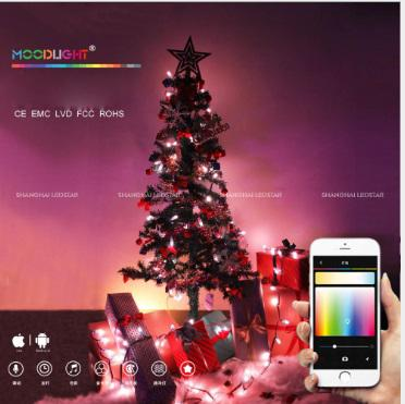 2018 Yeni yaratıcı Sonraki nesil Wifi lightshow LED dize App Kontrollü akıllı Noel Işıkları X-Mas dekorasyon Hediye