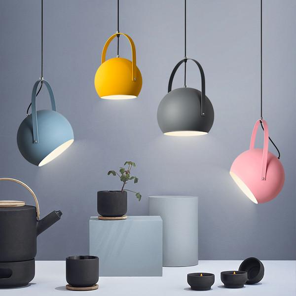 Envío gratis Moderno LED luces colgantes del norte de Europa colorido restaurante lámparas colgantes Home Decration accesorios de iluminación