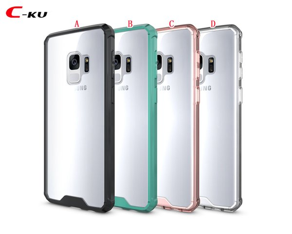 Armor Hybrid Soft TPU PC Case For Samsung Galaxy NOTE 9 NOTE9 S9 A8 Plus 2018 Bumper Transparent Clear Defender Cell Phone Skin Cover 80pcs