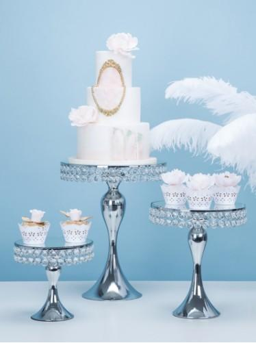 luxury silver gold wedding table centerpieces wedding party cake plate decorating cupcake macaron cookie chocolate candybar table decoration